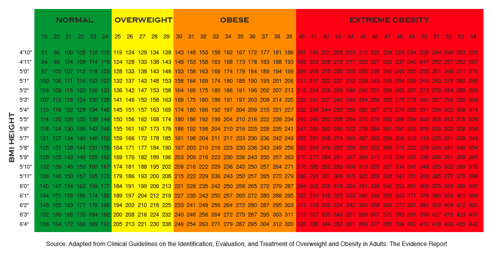 Obese Weight Charts Ibovnathandedecker