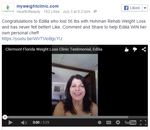 clermont weight loss success story