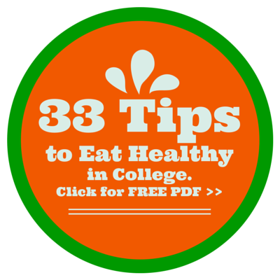 33 Tips eat healthy in college